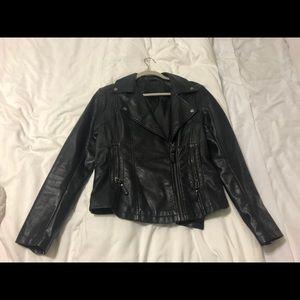 Black leather jacket small